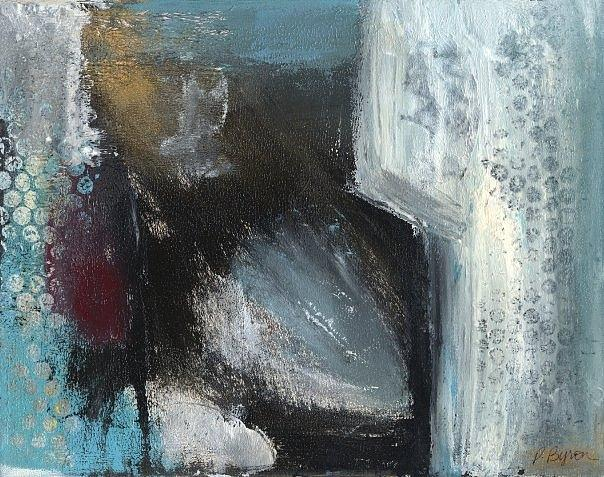 Abstract Painting - Winter of the Heart 1 by Patricia Byron