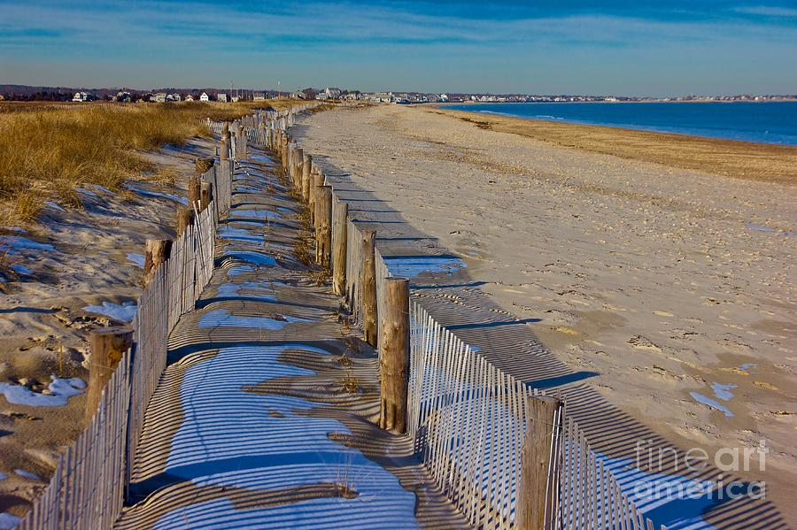 Winter on Duxbury Beach by Amazing Jules