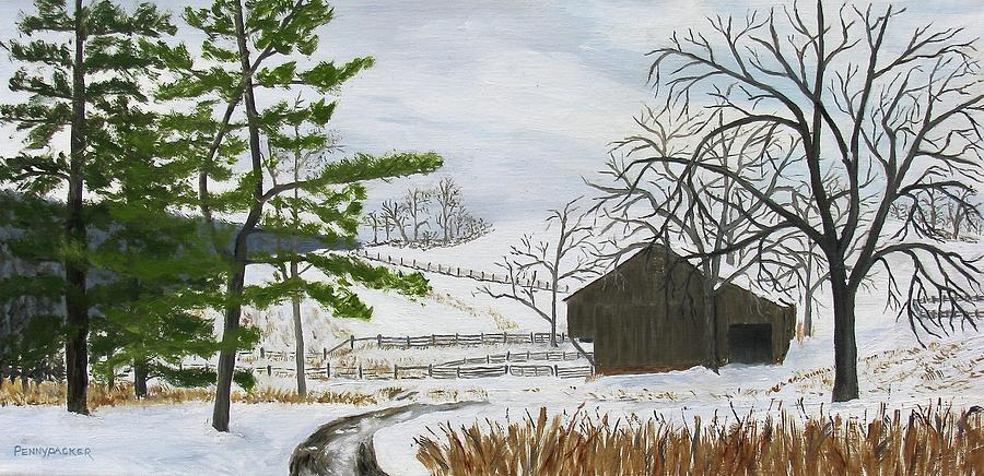 Winter on Hill Crystal Farm by Barb Pennypacker