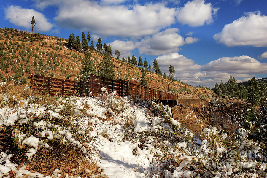 Winter Photograph - Winter On The Bizz Johnson Trail by James Eddy