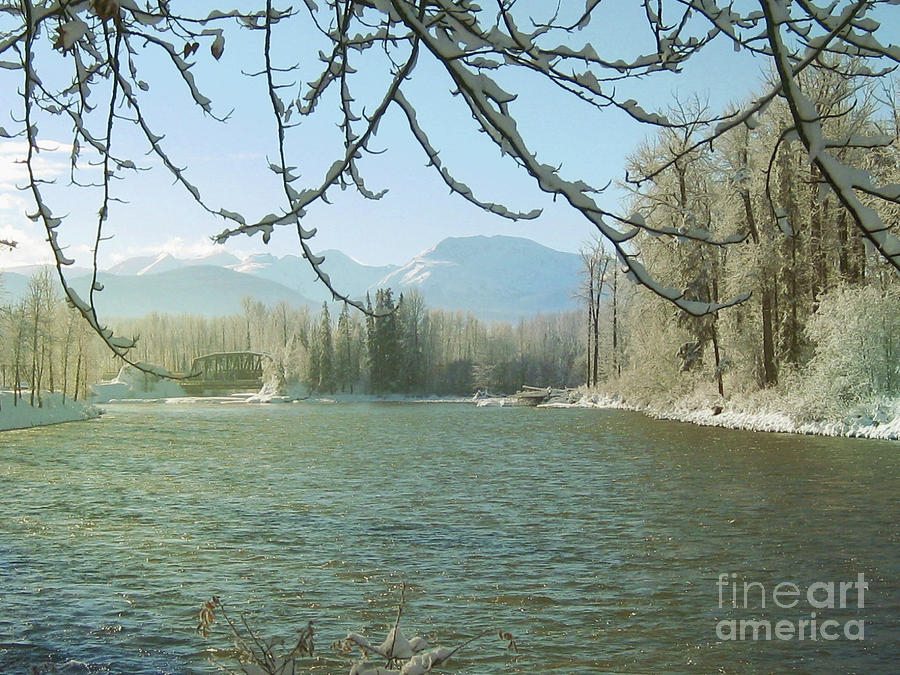 Winter on the Bulkley by Anne Havard