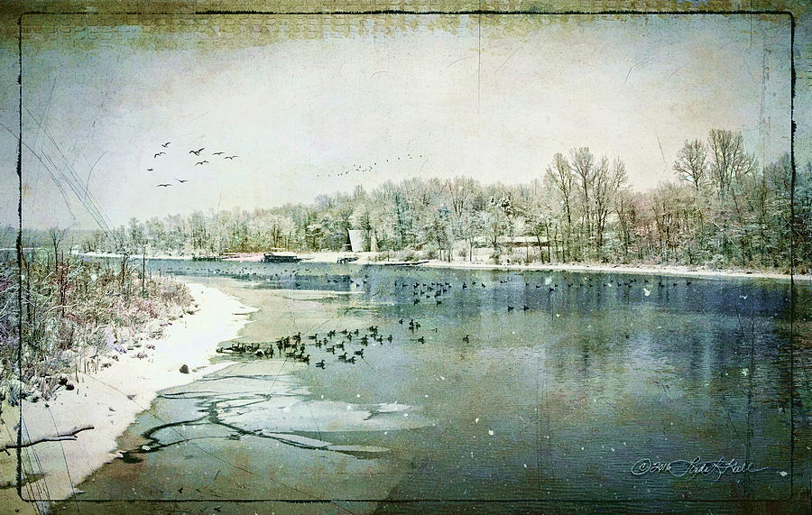 Winter Photograph - Winter on the Hudson No. 2 by Linda Lee Hall