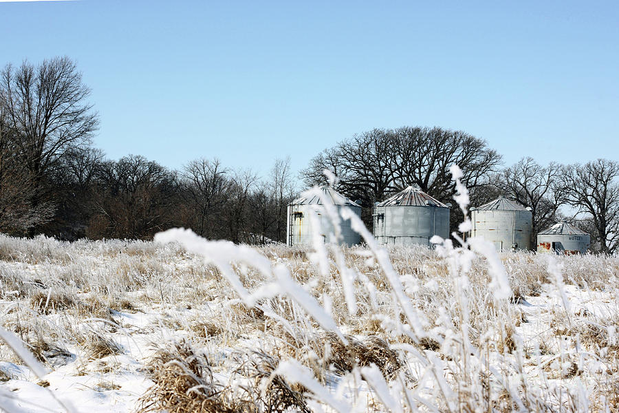 Agriculture Photograph - Winter On The Prairie Number 2 by Alan Look