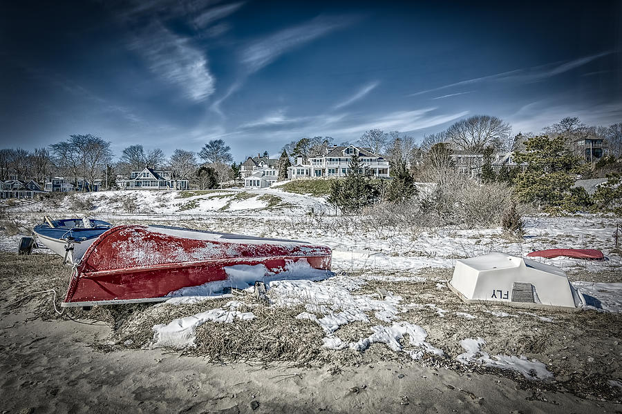 Cape Cod Photograph - Winter on Vineyard Haven by Bob Bernier