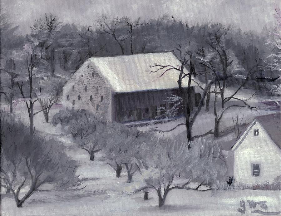 Barn Painting - Winter Orchard by Gloria Condon