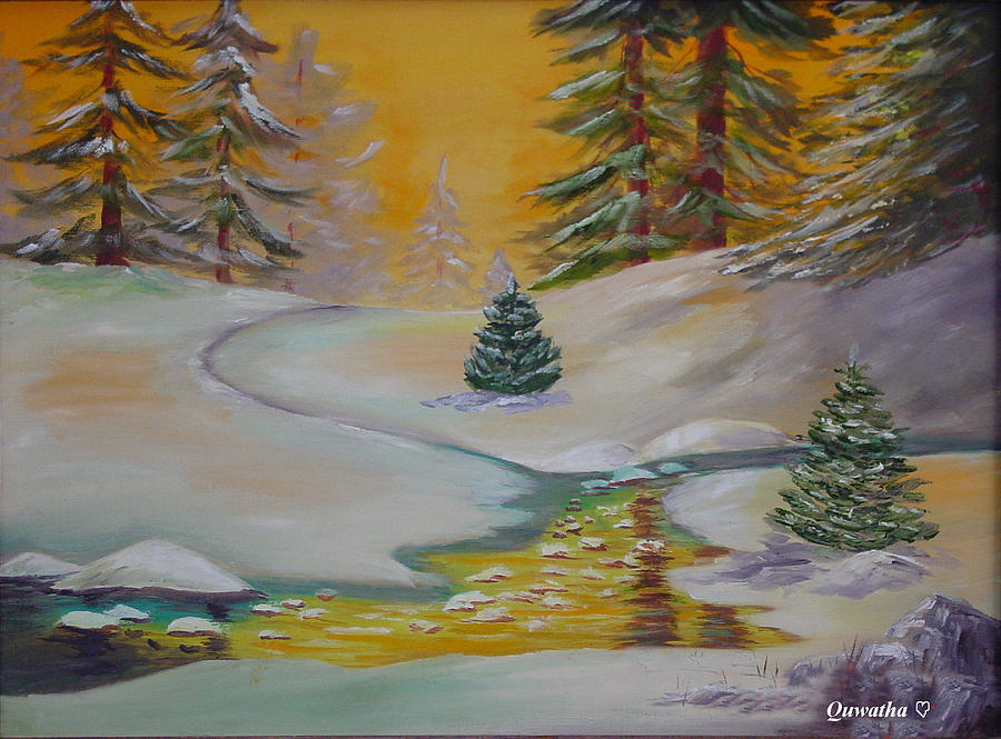 Winter Painting - Winter by Quwatha Valentine