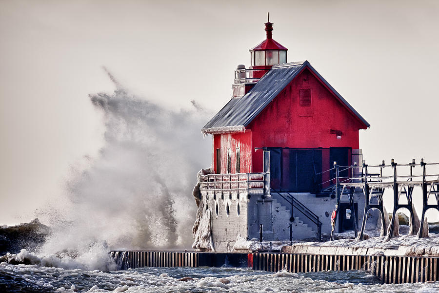 Michigan Photograph - Winter  Rage by James Marvin Phelps