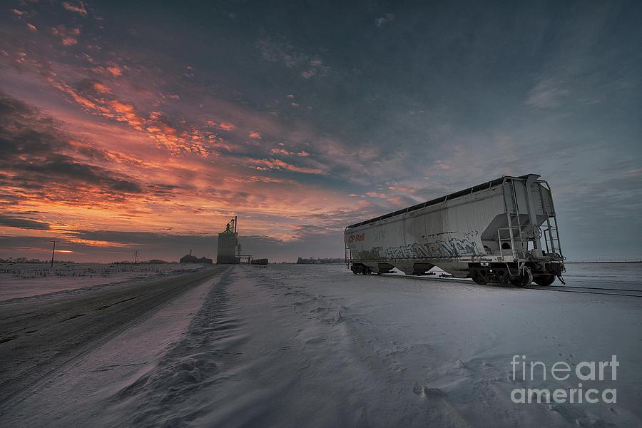 Cp Rail Photograph - Winter Rail Car by Ian McGregor