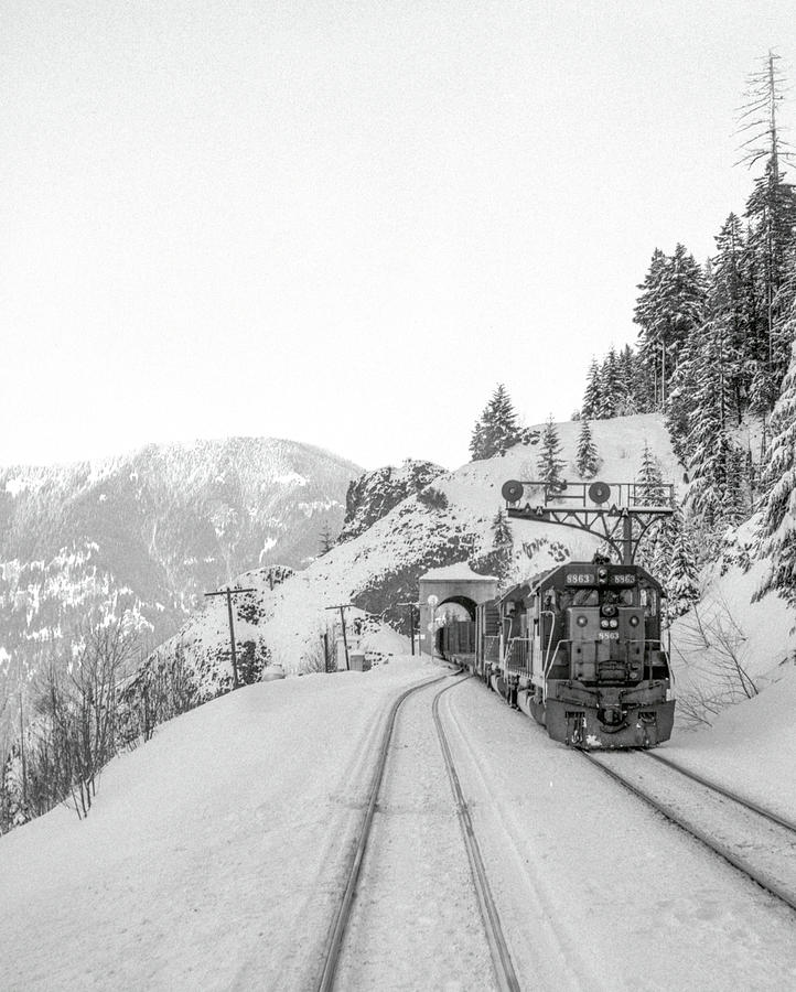 Winter Railroading, Oregon by Frank DiMarco