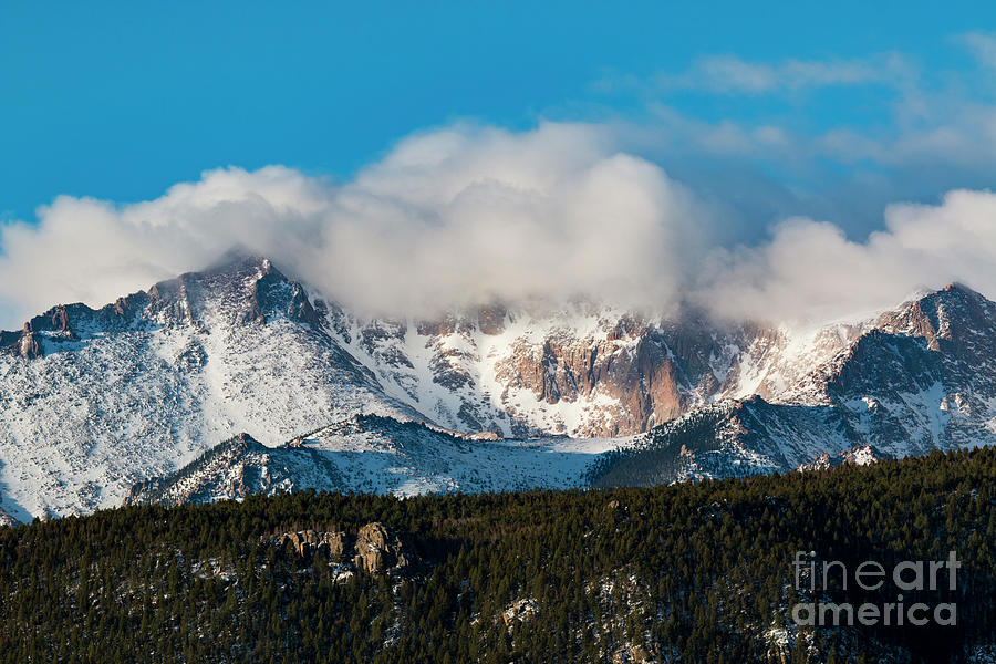 Winter Receding On Pikes Peak Photograph