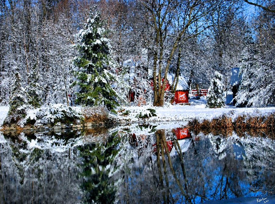 Snow Photograph - Winter Reflection by Kristin Elmquist