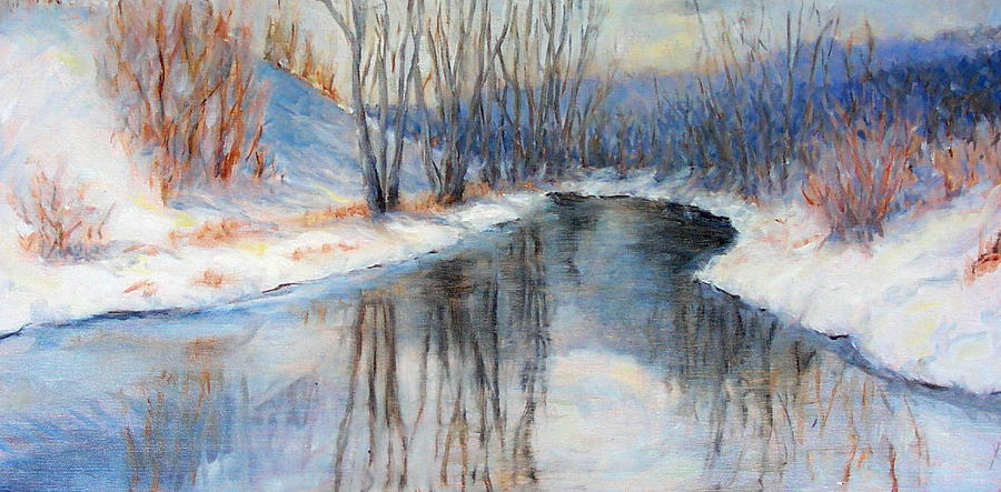 Winter Painting - Winter Reflection by Ruth Mabee