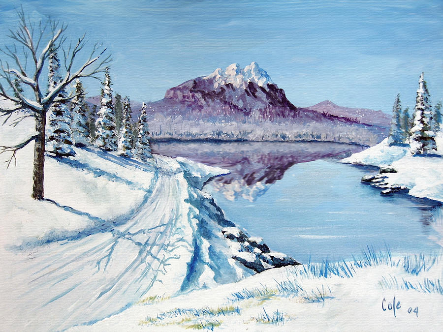 Winter Painting - Winter Road by Larry Cole