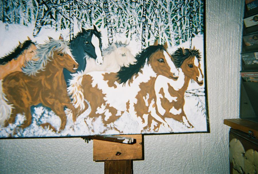 Wildlife Painting - Winter Run by Richard Erickson