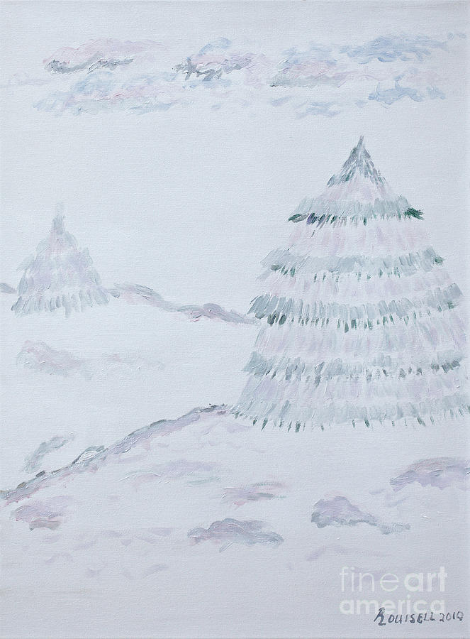 Winter Painting - Winter Scene No. One by Robyn Louisell