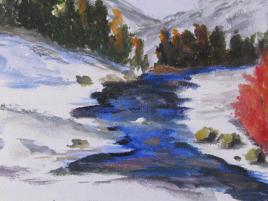 Snow Painting - Winter Shades by Trilby Cole