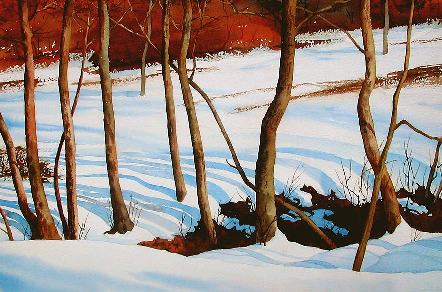 Landscape Painting - Winter Shadows by Faye Ziegler