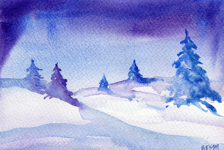 Winter sky by Clara Sue Beym