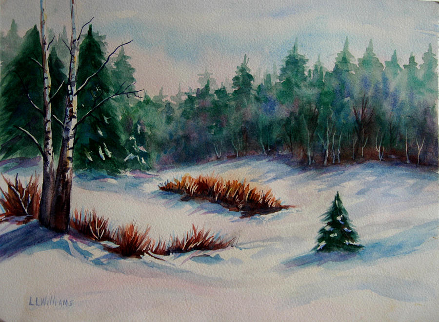 Landscape Painting - Winter Snow by Lucy Williams
