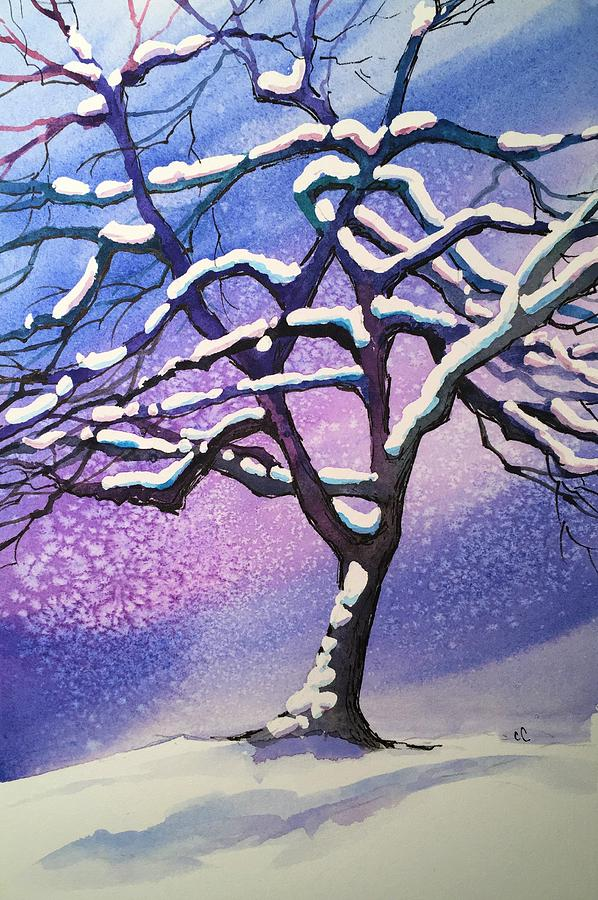 Winter Painting - Winter Snowstorm by Christine Camp