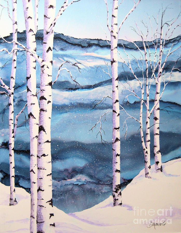 Winter Painting - Winter Solitude by Diane Marcotte