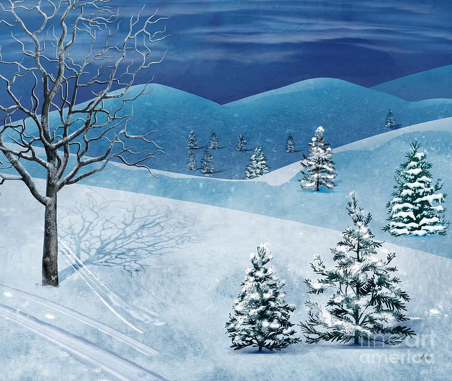 Winter Digital Art - Winter Solstice by Peter Awax