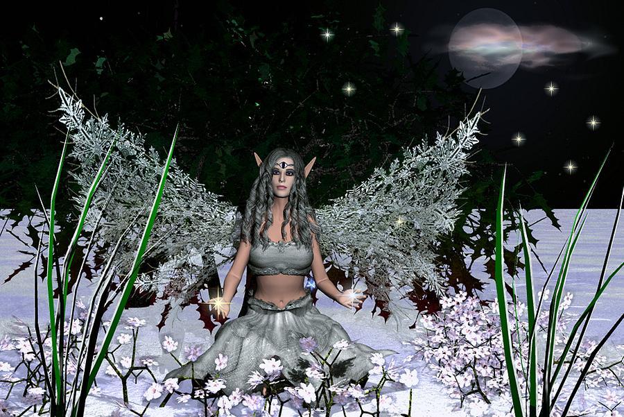 Fairy Mixed Media - Winter Solstice by Eva Thomas