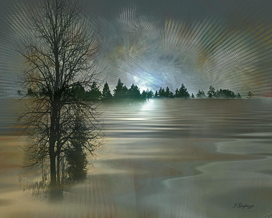 Winter Digital Art - Winter Solstice by Jean Gugliuzza