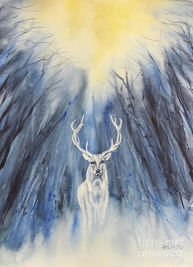 Yule Painting - Winter Solstice - Yule by Deneb Arici