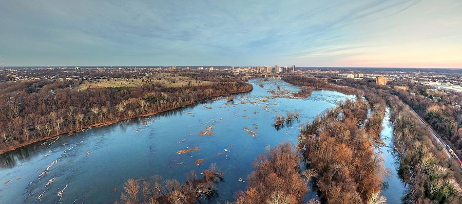 Richmond Photograph - Winter South side RVA by Tredegar DroneWorks