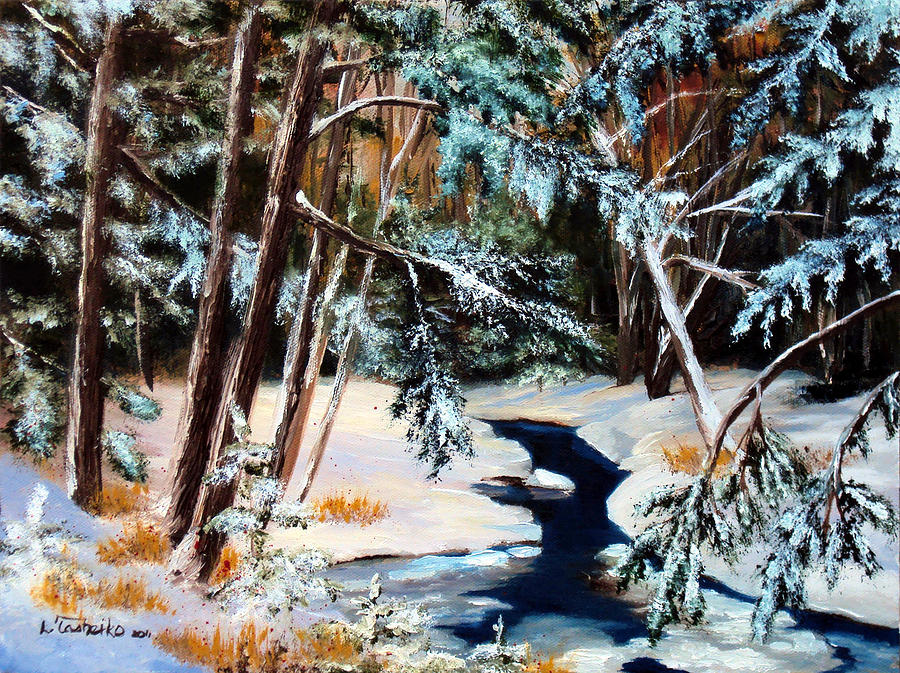 Winter Painting - Winter Spring by Laura Tasheiko