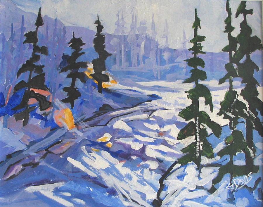 Landscape Painting - Winter Spruce by Gordon Davis