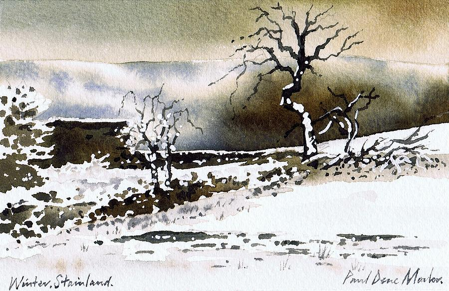Winter Painting - Winter Stainland by Paul Dene Marlor