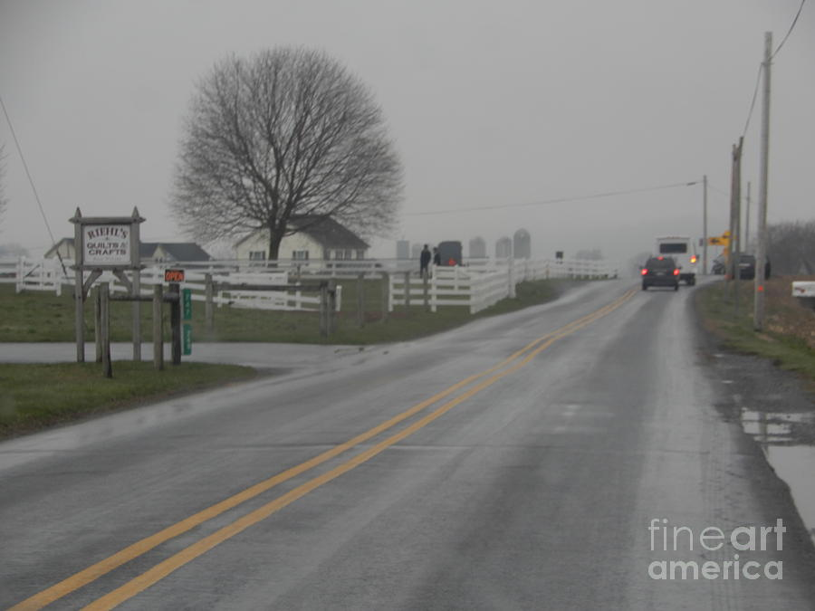 Amish Photograph - Winter Still Holds On In Early Spring by Christine Clark