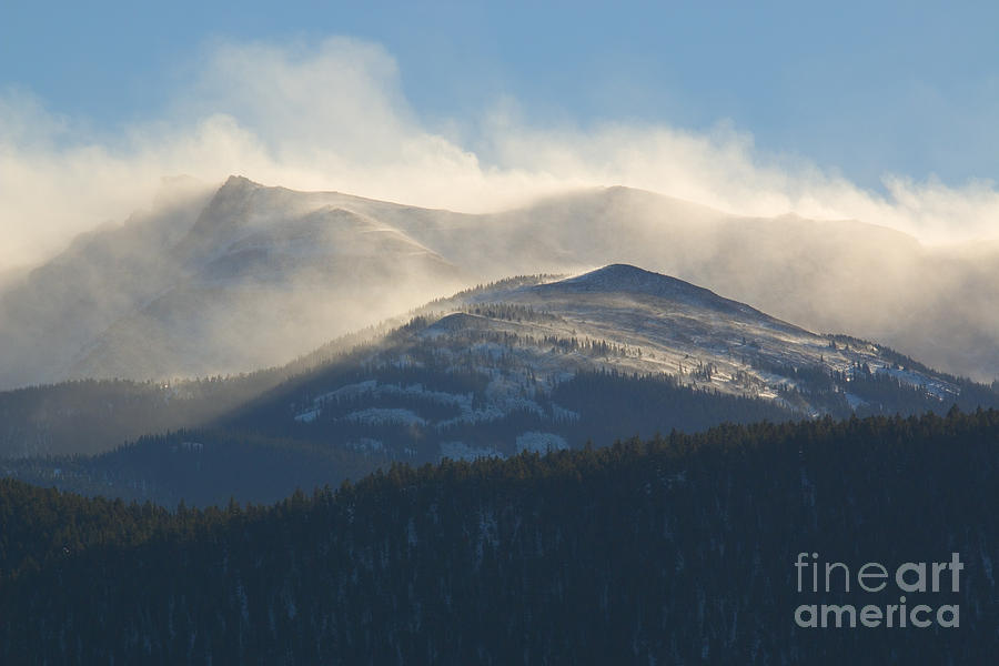 Winter Storm And Wind On Pikes Peak Colorado Photograph