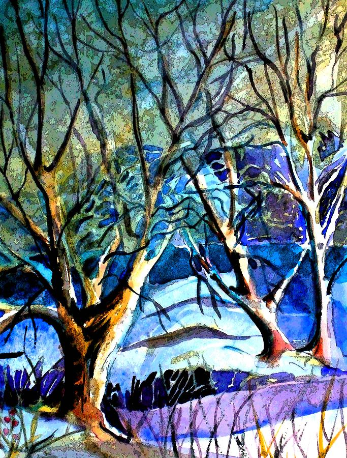 Art Painting - Winter Storm by Mindy Newman