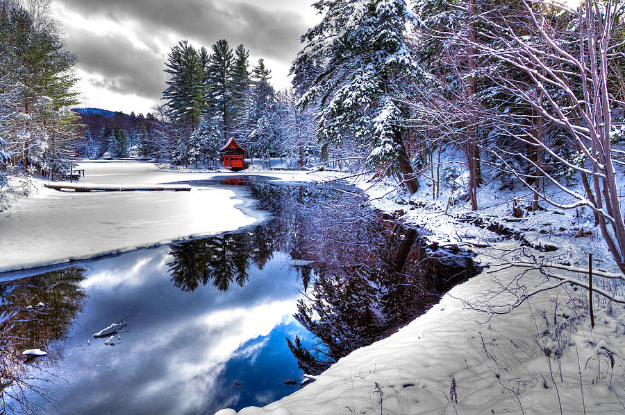 Winter Stream In Old Forge Photograph by David Patterson