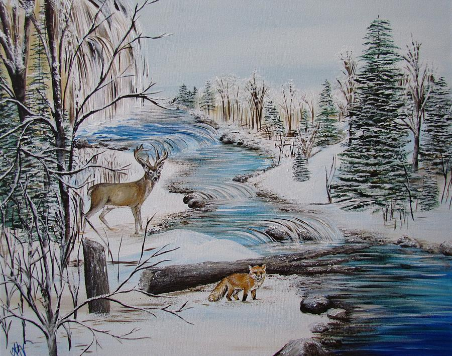 Winter Stream by Mandy Joy