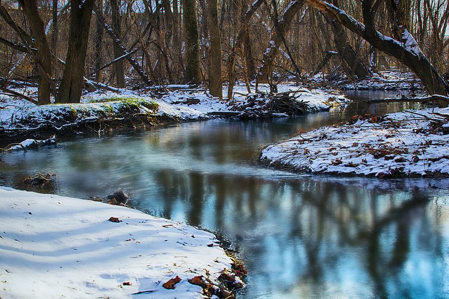 Pa Photograph - Winter Stream, Pa by John Daly