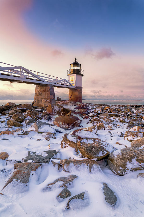 Winter Sunrise at Marshall Point by Jesse MacDonald