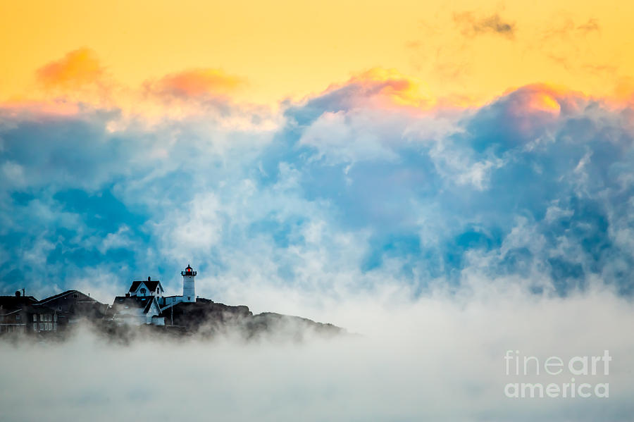 Winter sunrise at Nubble Light by Susan Cole Kelly