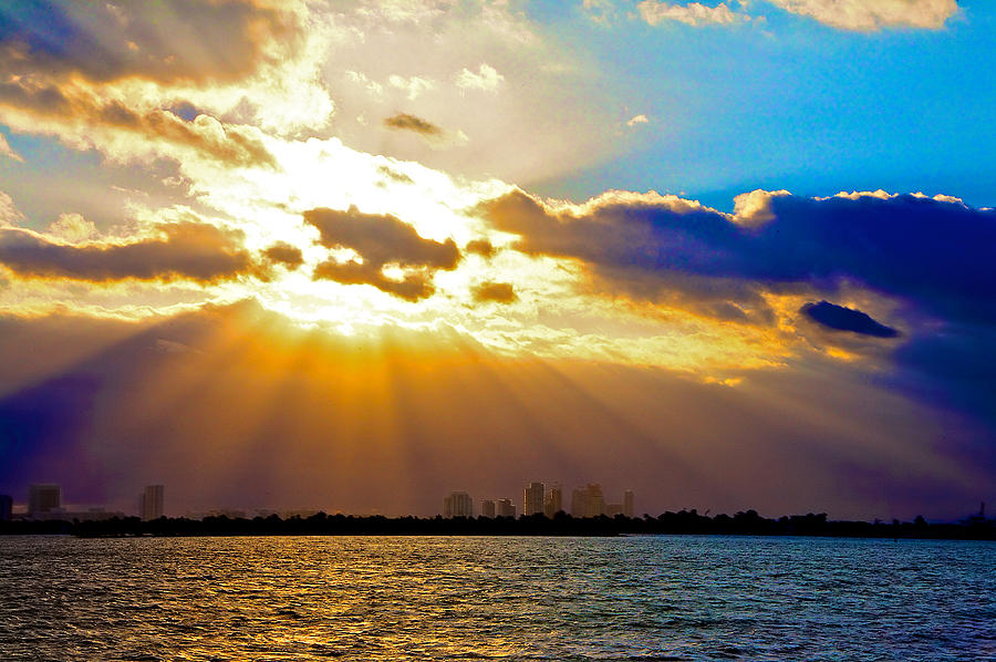 Miami Beach Photograph - Winter Sunrise Over Miami Beach by William Wetmore