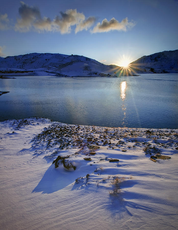 Wales Photograph - Winter Sunrise by Richard Outram