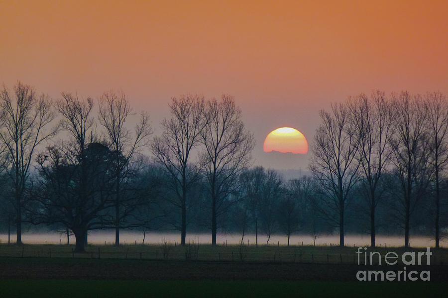Absence Photograph - Winter Sunset 1 by Jean Bernard Roussilhe