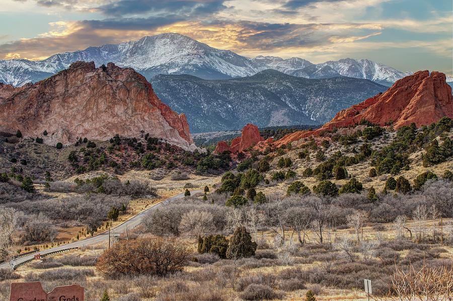 Winter Sunset Garden Of The Gods Colorado Springs