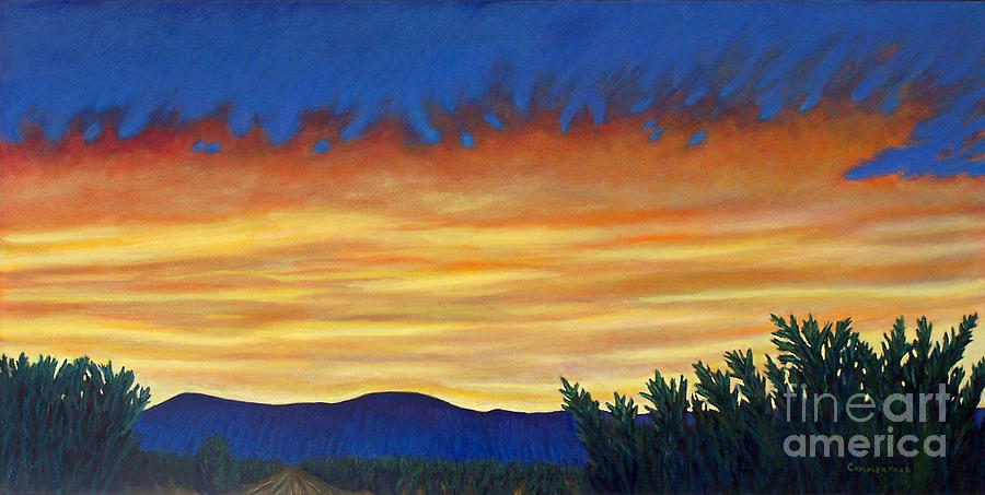 Sunset Painting - Winter Sunset In El Dorado by Brian  Commerford