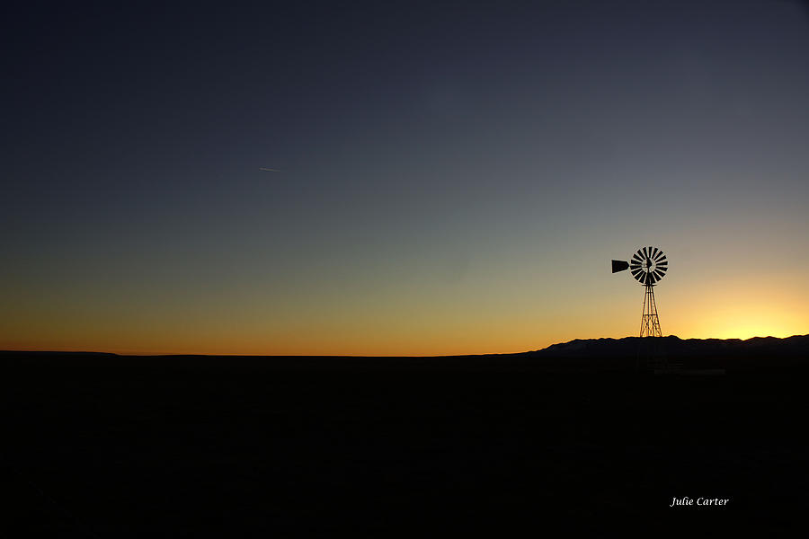Winter sunset by Julie Carter