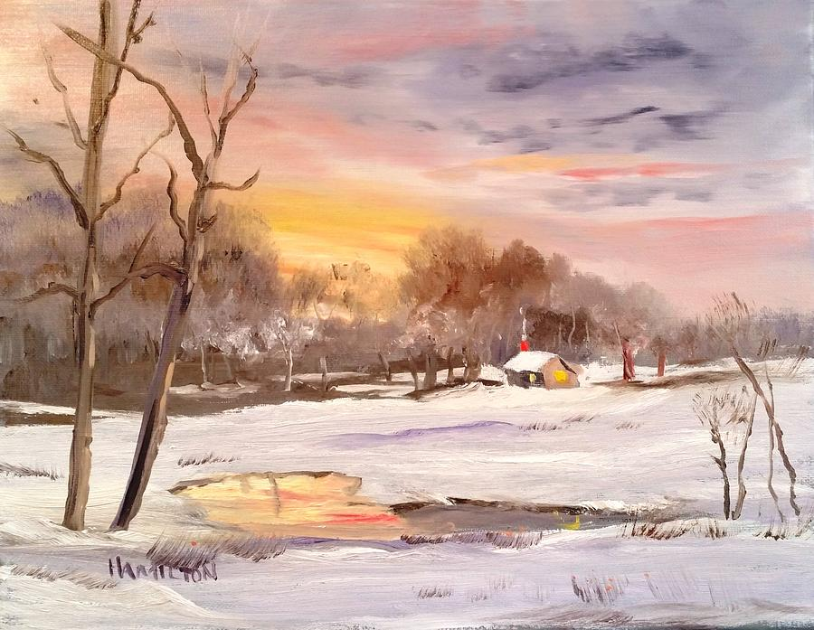 Winter Sunset by Larry Hamilton