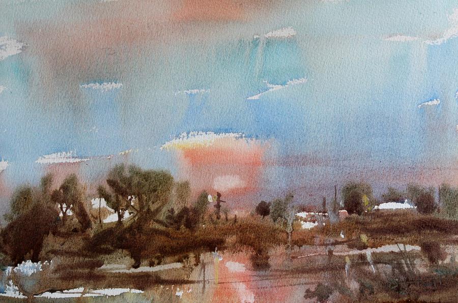 Owen Hunt Painting - Winter Sunset by Owen Hunt