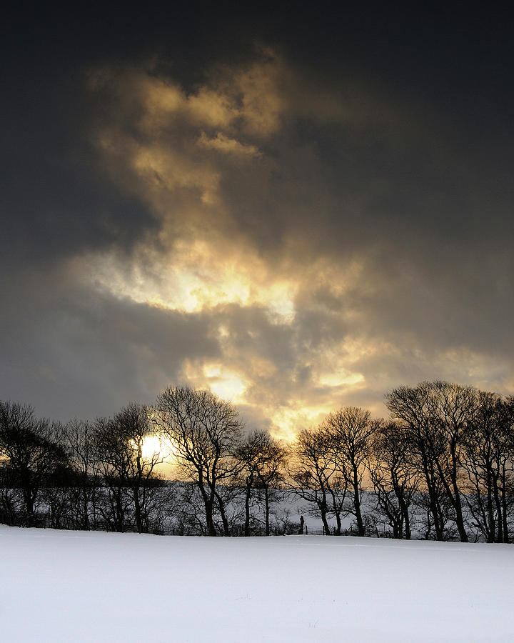 Winter Photograph - Winter Sunset, Trough Of Bowland, England by David Stanley